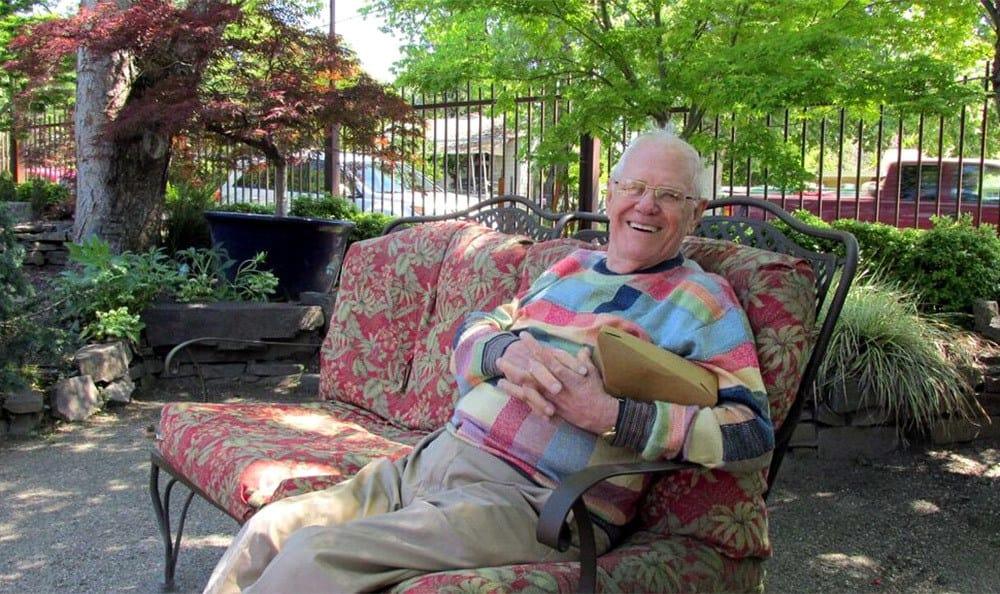 Resident Relaxing at the Senior Living in Carmichael