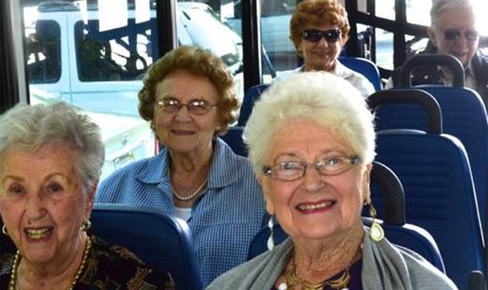 Bus Ride at the Senior Living Community in Roseville