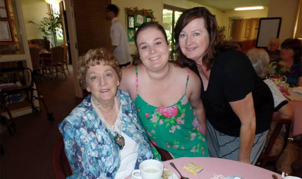 Family at the Senior Living in Roseville