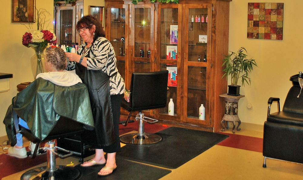 Hair Salon at the Senior Living in Roseville