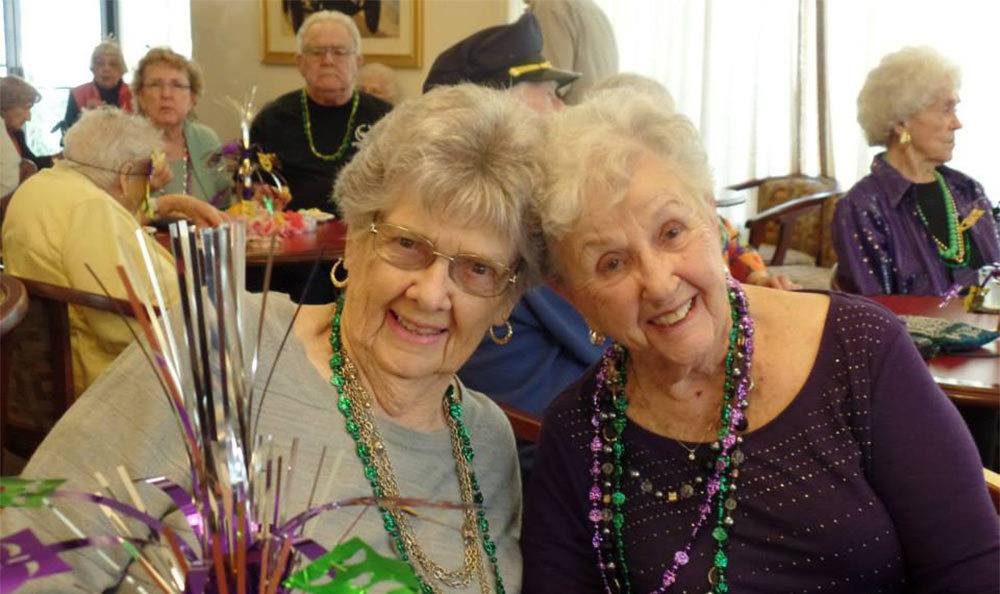 Happy Friends at the Senior Living in Roseville