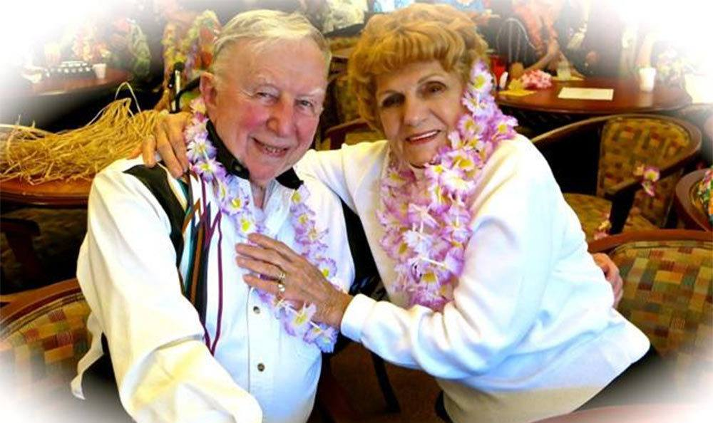 Luau in Roseville senior living community