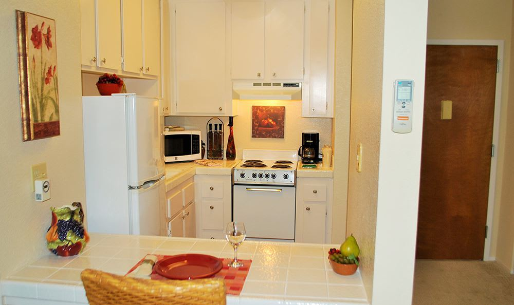 Modern Kitchen at the Senior Living in Roseville