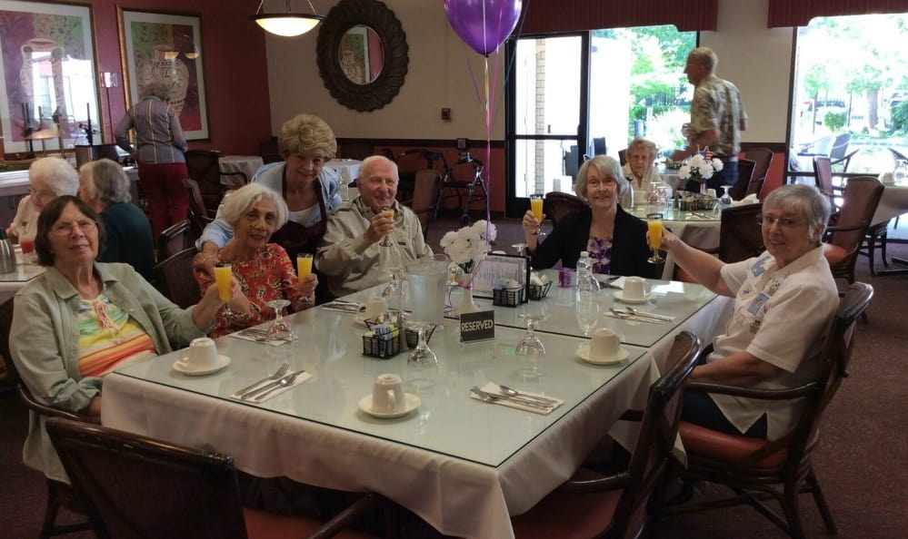 Birthday celebration at senior living in Sacramento