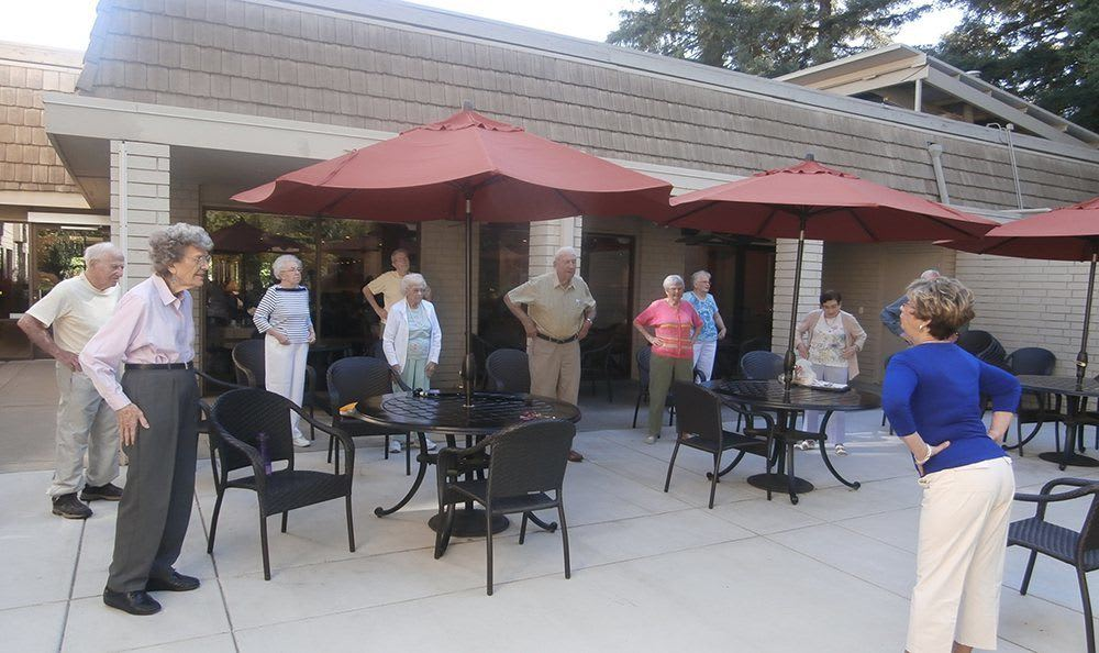 Residents dancing at the senior living community in Sacramento