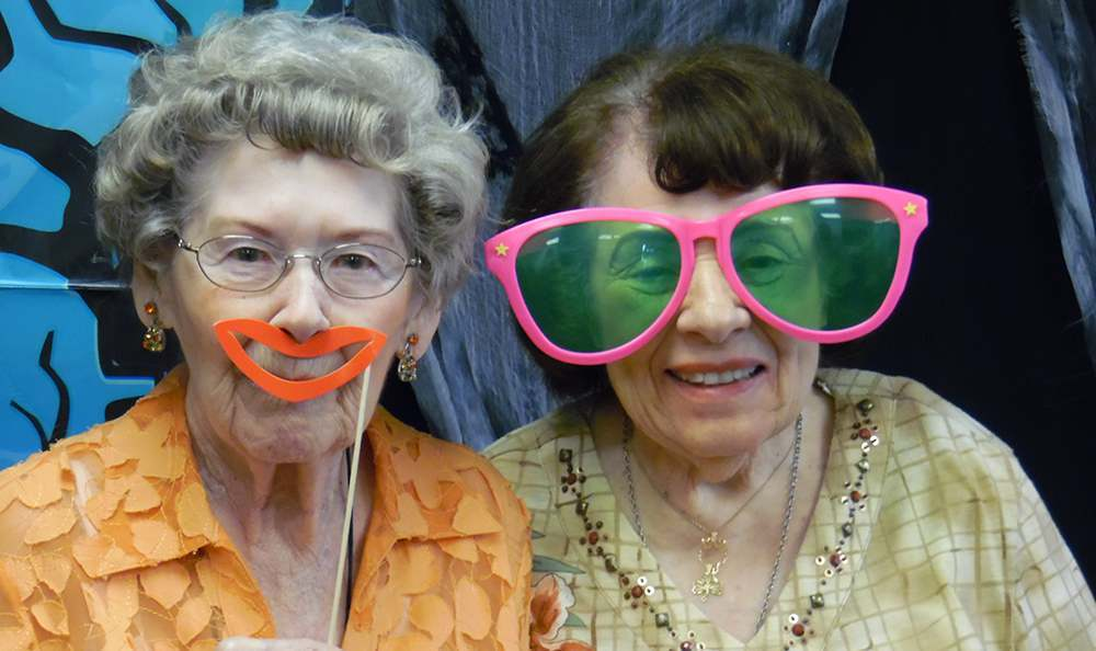 Residents celebrating halloween at the senior living community in Sacramento