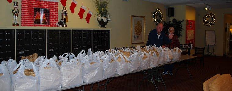 Charity at the senior living community in Sacramento