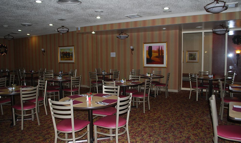 Open Dining Room at the Senior Living community in Sacramento