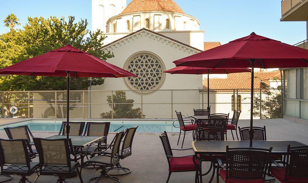 Pool Area at the Senior Living community in Sacramento