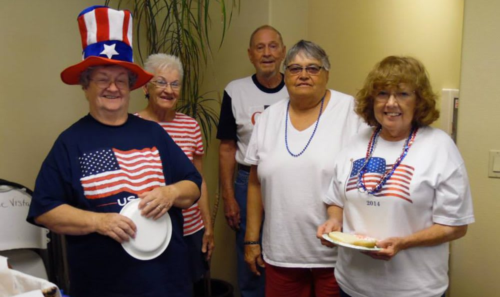 Fourth of July fun at Castle Vista Senior Duplex Community in Atwater