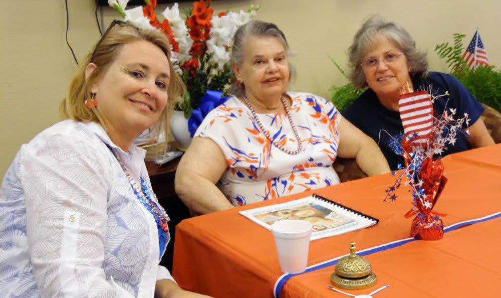 Dinner with friends at Castle Vista Senior Duplex Community in Atwater