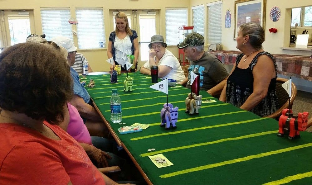Senior living community games in Atwater