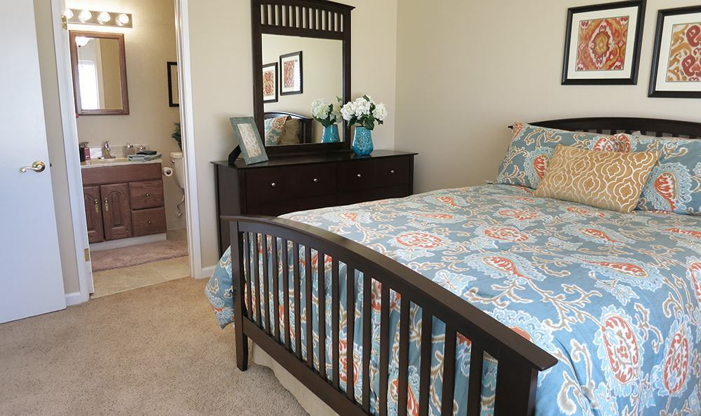 Open Bedroom at the Senior Living Community in Atwater