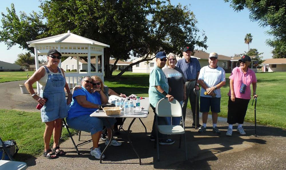 Outdoor fun at a senior living community in Atwater