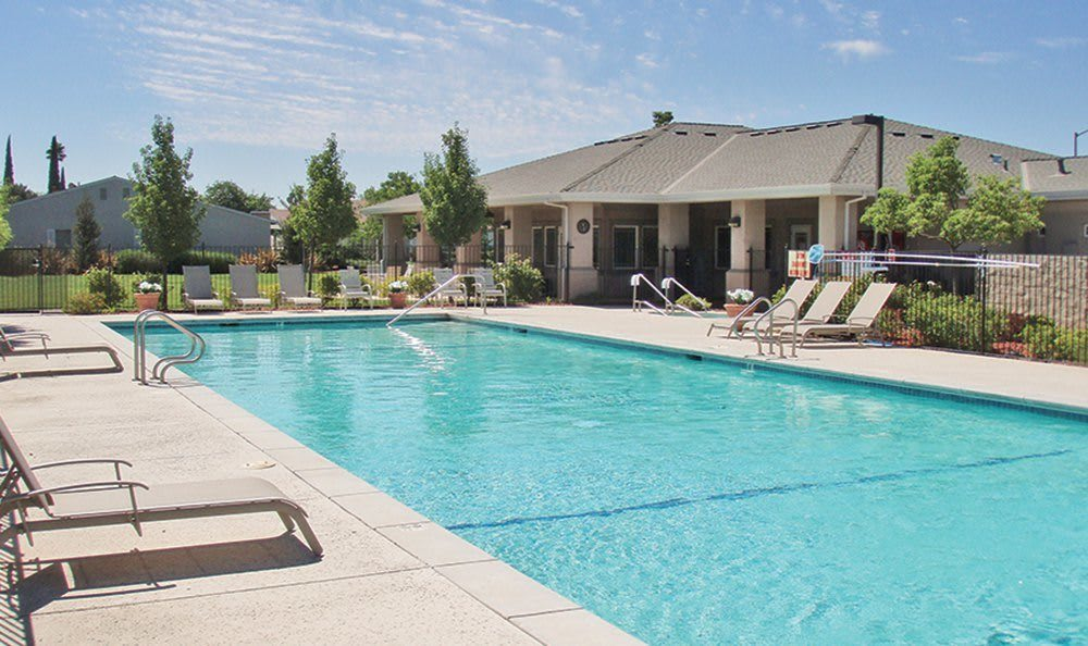 Safe Pool Area at the Senior Living in Atwater