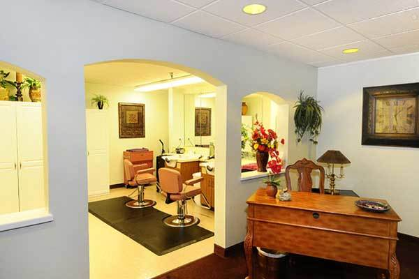Get your hair done at River Commons Senior Living.
