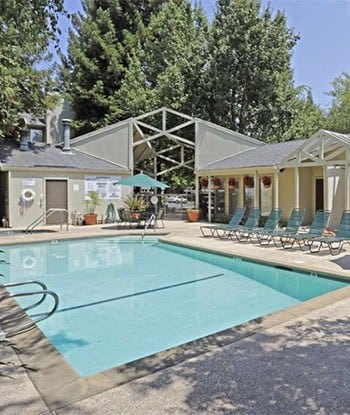 Pool area at Ray Stone Apartments