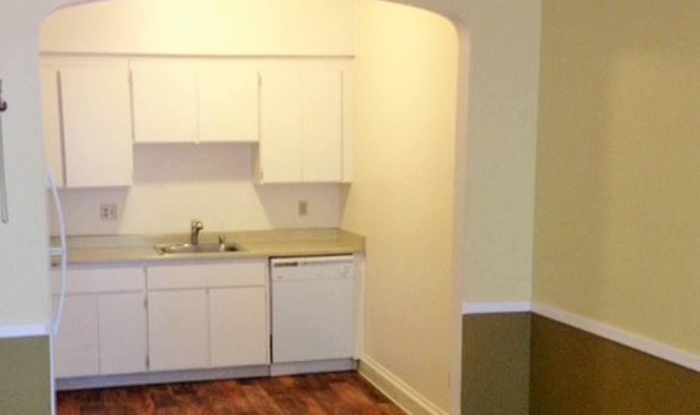 Kitchen at apartments in Sacramento