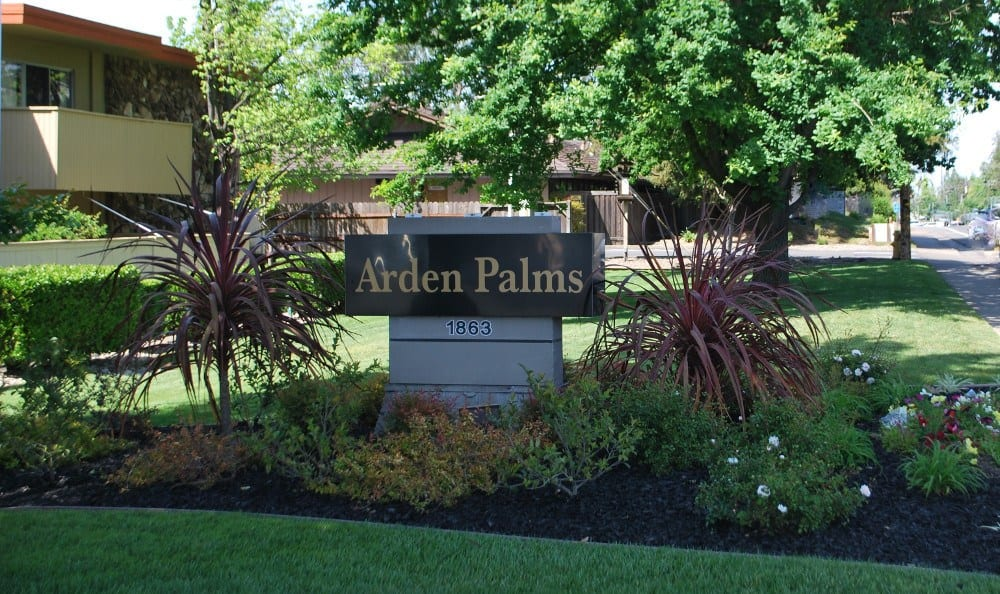 Arden Palms Apartments sign in  Sacramento, CA