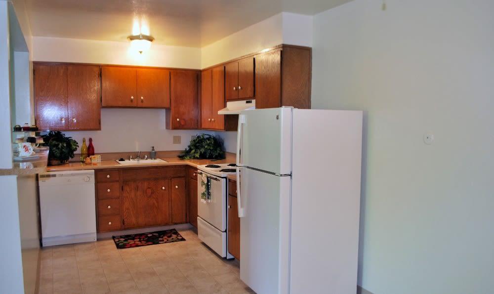 Kitchen at  Arden Palms Apartments, in Sacramento, CA