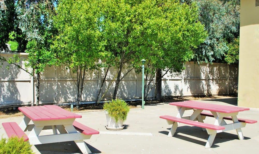 Patio at  Arden Palms Apartments, in Sacramento, CA