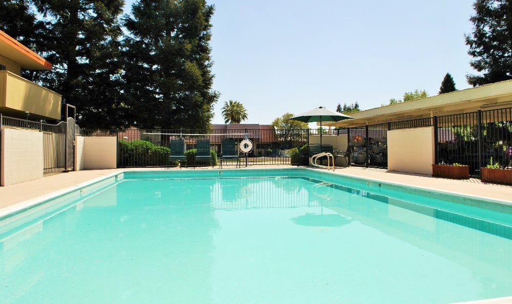 Pool at  Arden Palms Apartments, in Sacramento, CA