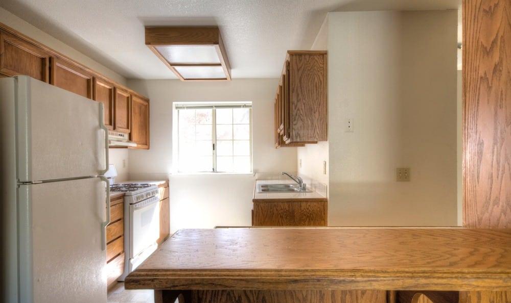 Kitchen countertop at Auburn Townhomes in Auburn, California