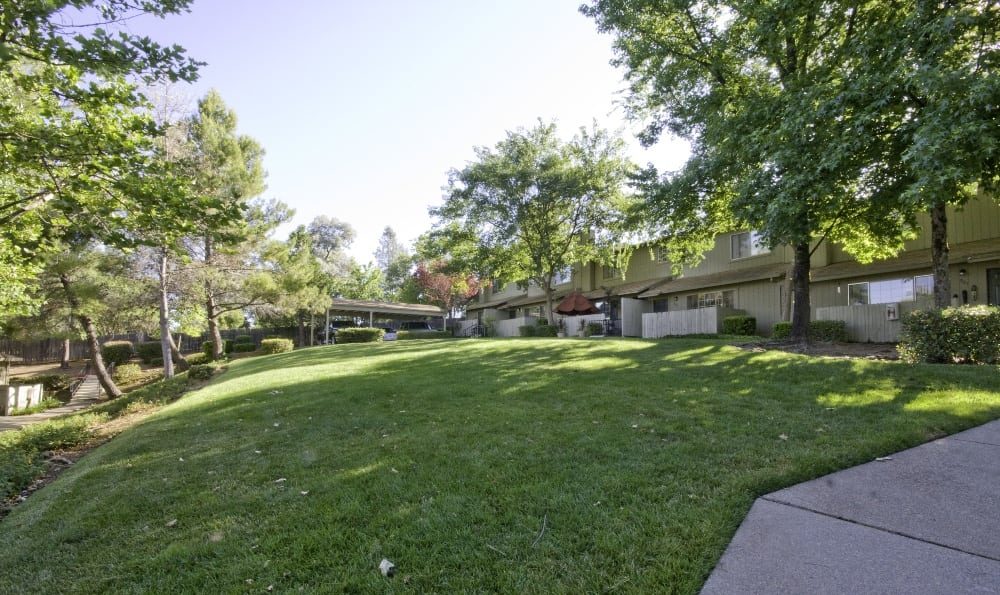 Great outdoors at Auburn Townhomes in Auburn, California