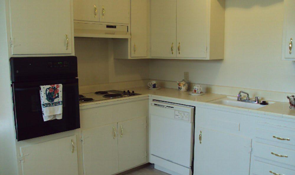 Kitchen at Sacramento apartments