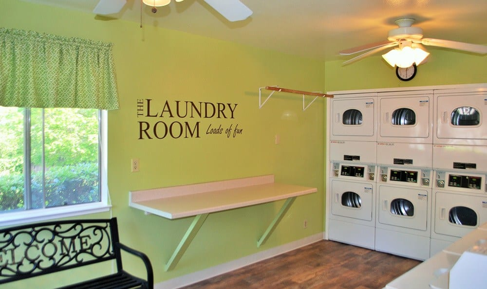 Laundry room at San Juan Hills in Fair Oaks, CA