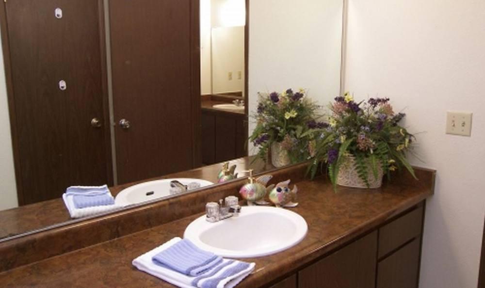 Bathroom at apartments in Fair Oaks