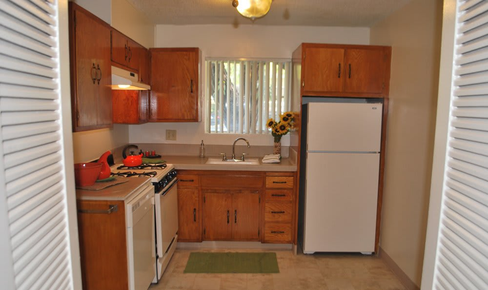 Kitchen At Our Apartment Rentals In Sacramento