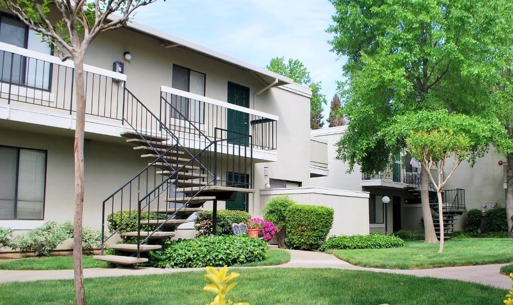 Apartment building at California Center Apartments in Sacramento, California