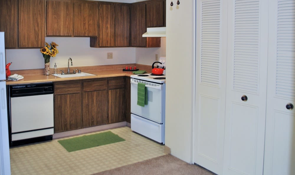 Kitchen At Our Apartments In Sacramento