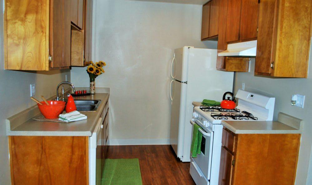 Kitchen area at Meritage Apartments in Lodi, California