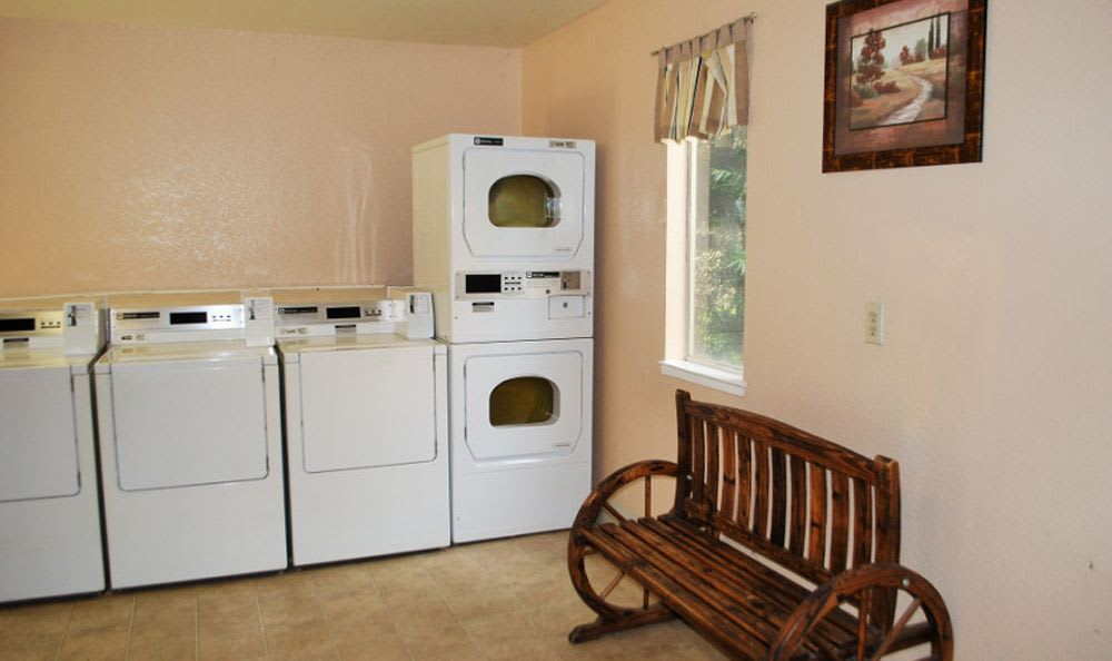 Laundry room at Meritage Apartments in Lodi, CA