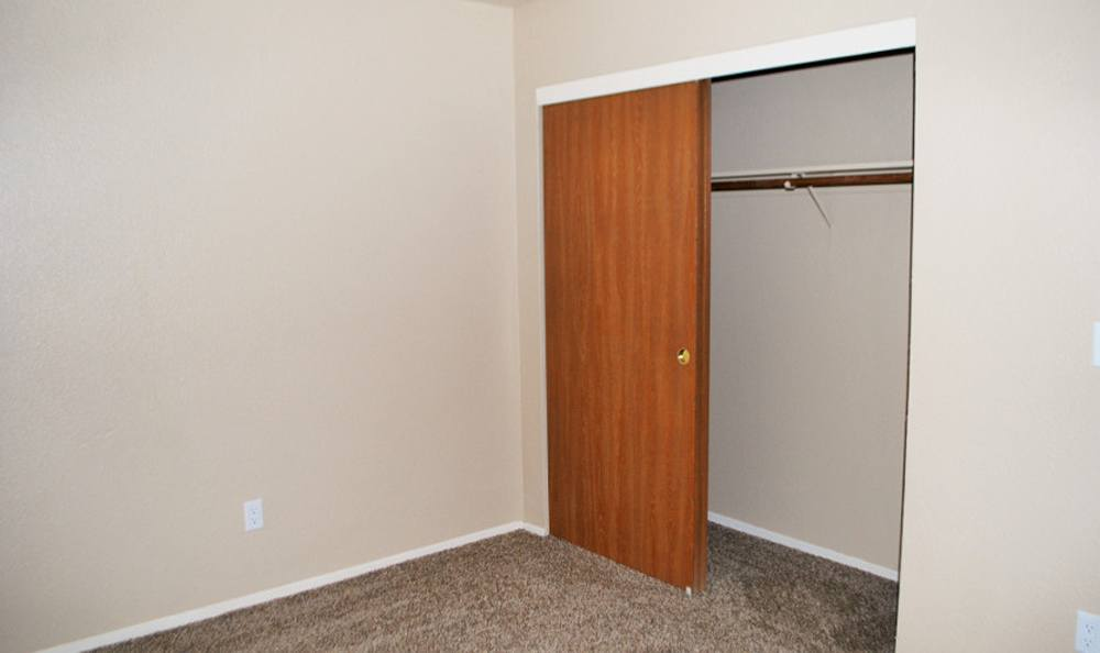 Closet at apartments in Lodi, CA