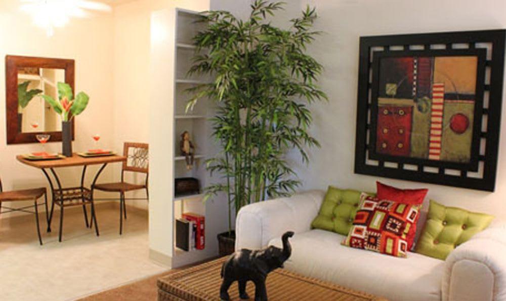 Living room of Coralaire Apartments in Sacramento, California