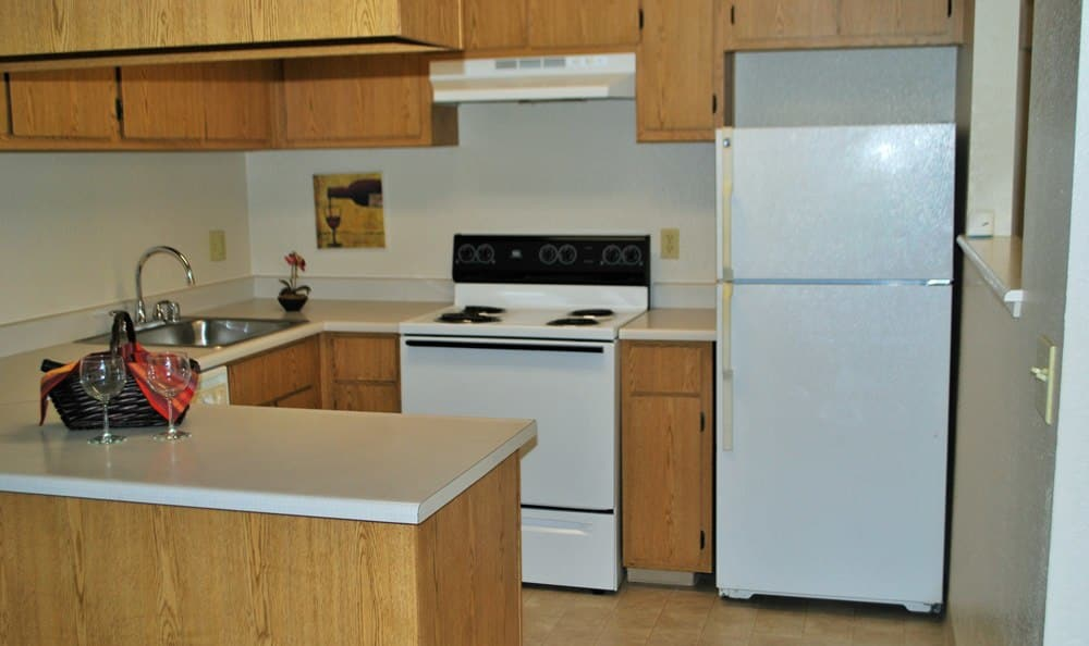 Kitchen at Zinfandel Ranch Apartments in Rancho Cordova, CA