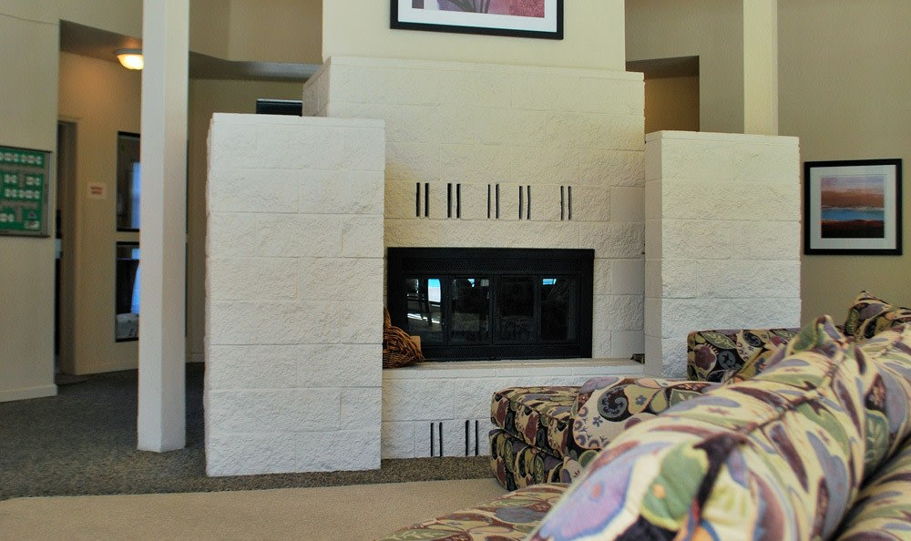 Fireplace at Zinfandel Ranch Apartments in Rancho Cordova, CA