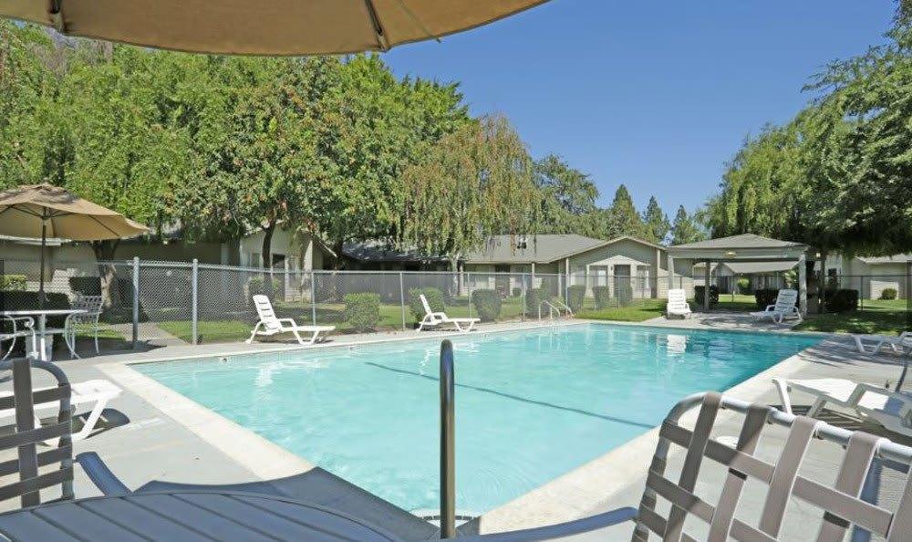 Pool at Vineyard Apartments in Ceres, CA