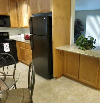 Modern kitchen for the apartments for rent owned by Ray Stone Inc.