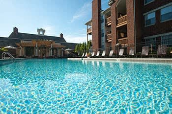 Swimming pool at apartments in Lexington, KY