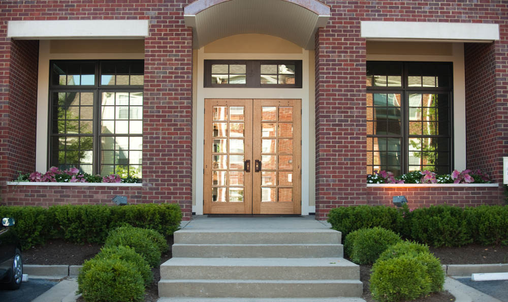 You will feel at home when seeing the beautiful entrance of Beaumont Farms Apartments