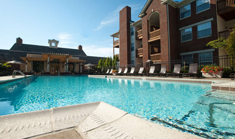 Private pool at Beaumont Farms Apartments