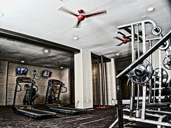 Fitness Center at apartments in Bowling Green, KY