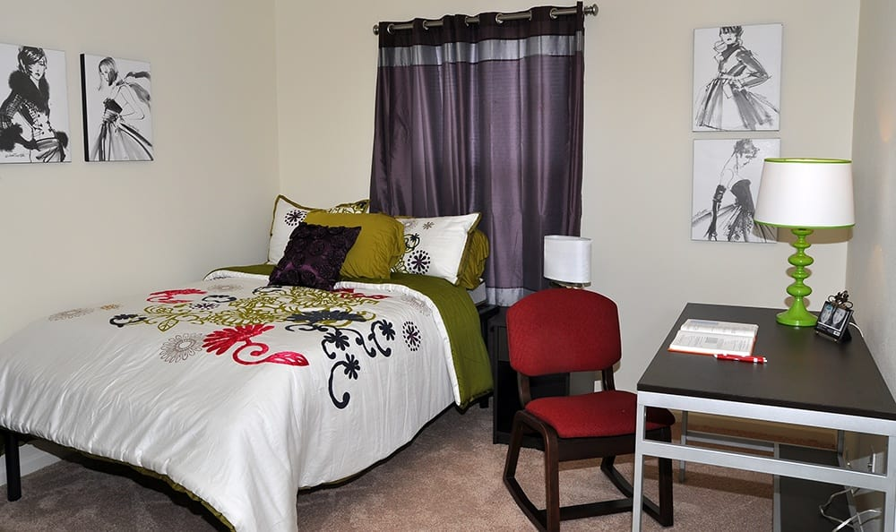 Bedroom At Apartments in Bowling Green