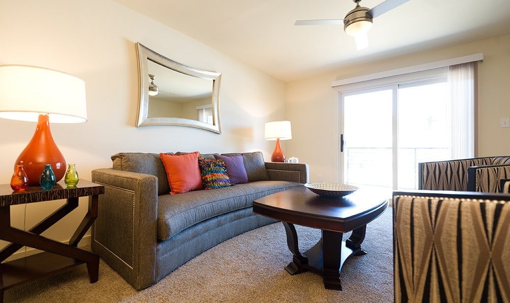 Living Room At Apartments In Lexington Kentucky