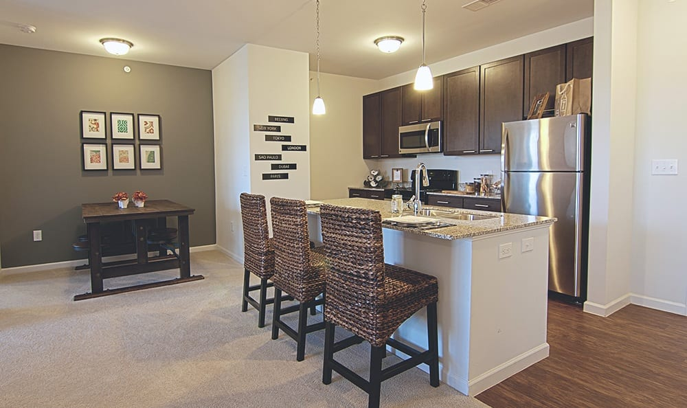 Kitchen in apartments in North Chesterfield, VA