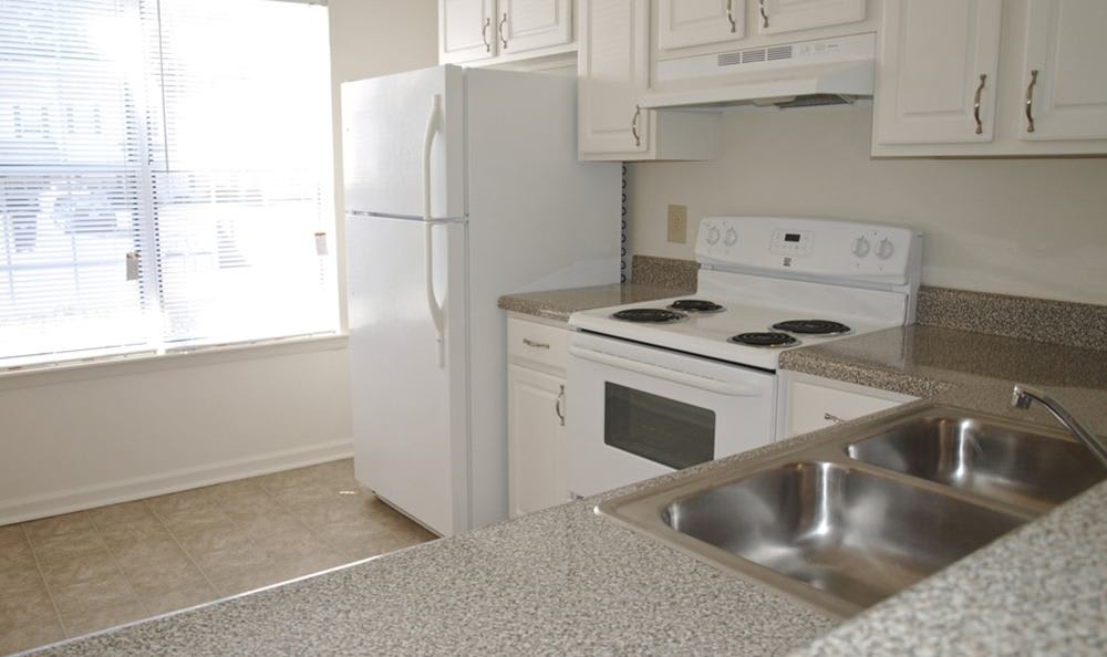 Kitchen At Exterior Of Apartments In Virginia Beach Virginia